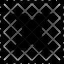 X Uppercase Latin Icon