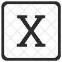X Uppercase Letter Icon