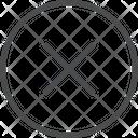 X Circle Icon