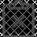 X Clipboard Icon