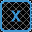 Key X Lower Icon