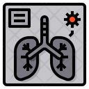 X Ray Virus Lung Icon