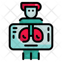 X Ray Ray Lung Icon