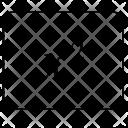X Square Degree Icon