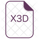 X 3 D File Extension Icon