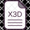 X 3 D Icon