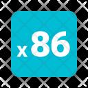 X 86 Icon