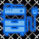 Copy Machine Home Appliances Electric Icon