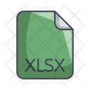 Xlsx Document File Icon