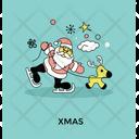 Reindeer Ride Santa Icon