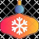 Snow Xmas Decoration Icon