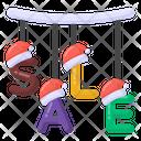 Xmas Sale Christmas Sale Hanging Sale Signage Icon