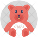 Xmas Teddy Bear Icon