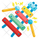 Xylophone Music Percussion Instrument Orchestra Carnival Equipment Icon