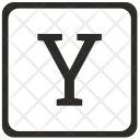 Y Uppercase Letter Icon