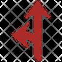 Y Intersection Arrow Direction Icon