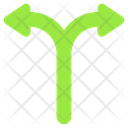 Y Intersection Indicator Arrows Three Way Junction Icon