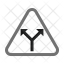 Y Intersection Sign Icon