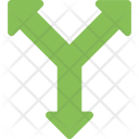 Y Intersection Junction Icon