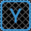 Key Y Upper Icon