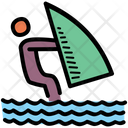 Wakeboarding Activity Sea Icon