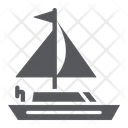 Yacht Transportation Boat Icon