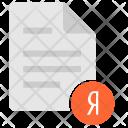 Yandex file Icon