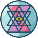 Yantra Shape Design Icon