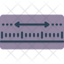 Yardage Measurement Meterage Icon