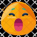 Yawn Emoji Face Icon