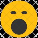 Yawn Emoji Smiley Icon