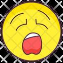 Yawning Emoticon Icon