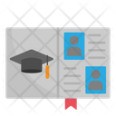 Yearbook Graduation Book Booklet Icon