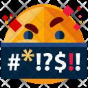 Yelling Emoji Face Icon