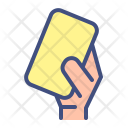 Yellow Card Foulsoccer Icon