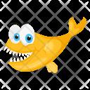 Yellow Koi Fish Icon
