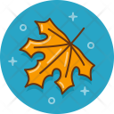 Yellow Leaf Nature Icon