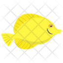 Yellow Tang Freshwater Fish Aquatic Fish Icon