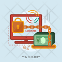 Yen Security Locked Icon