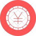 Yen Coin Currency Sign Icon