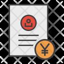 Yen Banking Document Icon