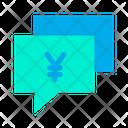 Yen Chat Bubble Icon