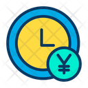 Clock Earning Time Management Icon