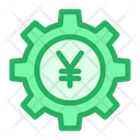 Cog Wheel Yen Wheel Money Optimization Icon