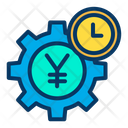 Yen Setting Yen Earning Management Cogwheel Icon