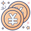 Yen Coins Chinese Coins Chinese Currency Icon