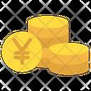 Yen Coins Icon