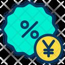 Yen Discount Icon