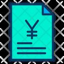 Document Business Document Yen Agreement Icon