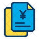 Yen Finance Document Papers Icon